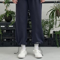 RE braces logo string pants (navy)