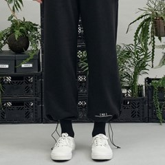 RE braces logo string pants (black)