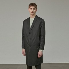 SOLID COTTON MAC COAT_BLACK