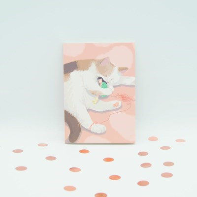귀여운 고양이 일러스트 노트 (라인노트)