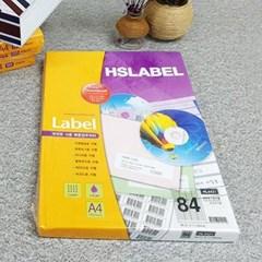Hnasol Label Paper 100매 HL4421 분류표기용 84칸