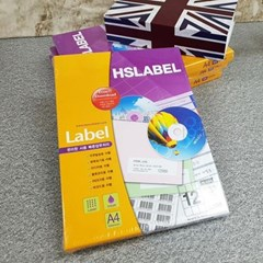 Hnasol Label Paper 100매 HL4304 물류관리용 12칸