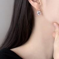 (92.5 silver) crystal hook earring