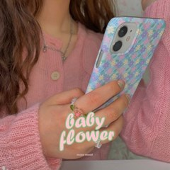 [뮤즈무드] baby flower 아이폰케이스