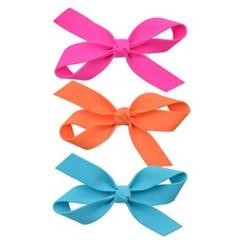 형광리본 헤어핀(3P)-오렌지,핫핑크,블루