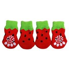 퍼피헛 강아지양말(딸기)♥간식+칫솔♥사은품증정