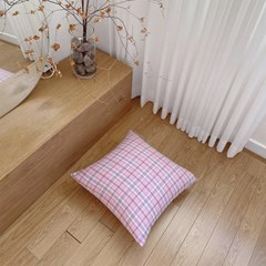 Ending Pink Check Cushion Cover
