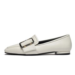 Square loafer - white