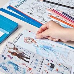 [메이크잇리얼] 겨울왕국2 패션디자인 컬러링 스케치북
