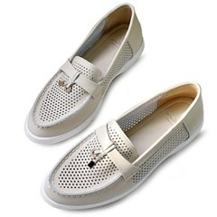 kami et muse Lock pendent punching leather loafers_KM20s024