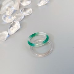 CL136 [1+1] Spring Breeze Jade Ring Set