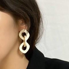 볼드한 체인 호마이카 원석 귀걸이(acc227)_(1811497)