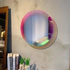 (무료배송)로니아 원형거울 홀로그램