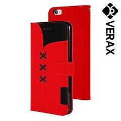 아이폰6플러스 X라인 카드수납 가죽 케이스 P467_(2613460)