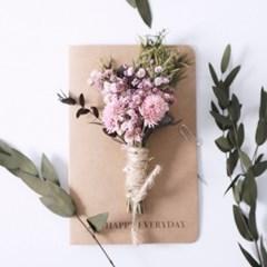 드라이플라워 꽃 카드 / 축하 감사 용돈 인사