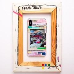 젤리케이스_프레임띵 No3 [Pink white] Phone Case