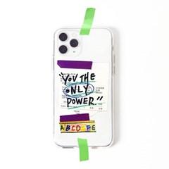 투명케이스_프레임띵 No12 [Only Power] Phone Case