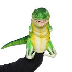 7763-공룡퍼펫(손인형) 티렉스(네온그린) 50cm.L