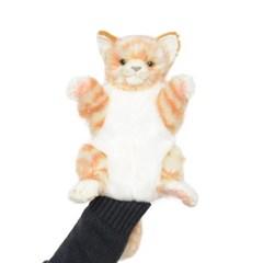 7182-갈색 고양이 퍼펫(손인형) 30cm.L_(1538375)