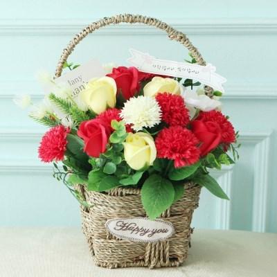 마뜰라쎄카네이션바구니 레드 어버이날 카네이션 선물_(2655268)