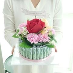플라워케익 용돈박스(30) 핑크 어버이날 생신선물_(2655123)