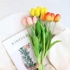 프리미엄 망고 튤립 조화 5송이 (8color) / 인테리어 꽃장식