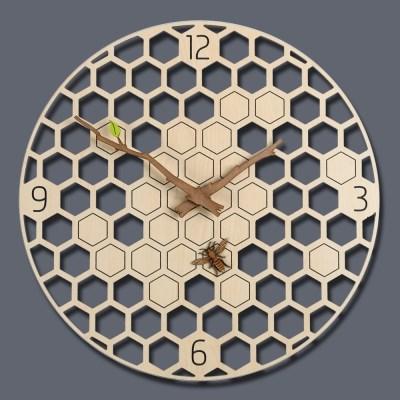 꿀벌 한마리가 포인트인 유니크한 허니비 벽시계