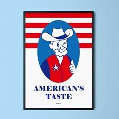 미국 맛 M 유니크 인테리어 디자인 포스터 식당 레스토랑