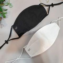 일회용 필터 내장 끈조절 흰색 검정 일반 천 면마스크
