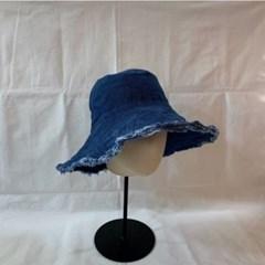 연예인 동백이 데님 넓은챙 벙거지 버킷햇 모자