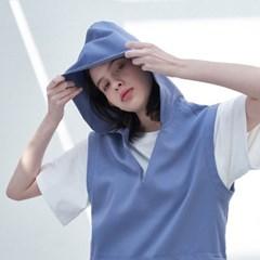 Sleeveless Hoodie Dress (Sky Blue)