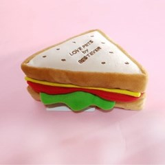 [PetToy]Love Pet Squeaky Sandwich바스락삑삑
