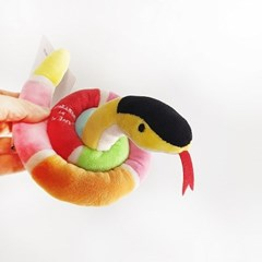 [PetToy] Love Pet Squeaky Snake pink바스락삑삑