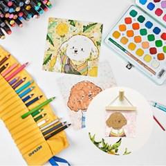 칠하는 토리 컬러링 카드, 엽서, 포스터
