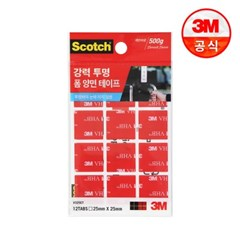 3M 스카치 강력 투명 폼 양면 테이프 325CT (2.5cmX2.5c_(2229328)
