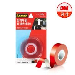 3M 스카치 강력 투명 폼 양면 테이프 3120C (12mmx2m)_(2229329)