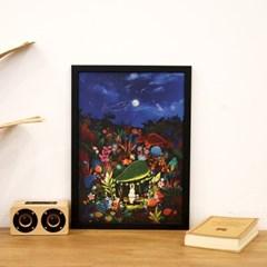 [A3 포스터, 캔버스액자] 여름밤 토끼