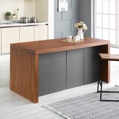 [데코마인] 엔슬리 아일랜드 식탁 1600 D형 홈바테이블