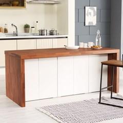 [데코마인] 엔슬리 아일랜드 식탁 1800 D형 홈바테이블