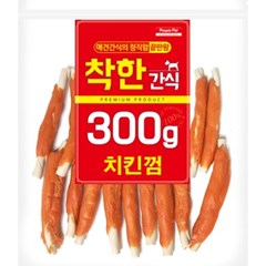 (신선재료) 착한간식 - 치킨껌 300g (in)