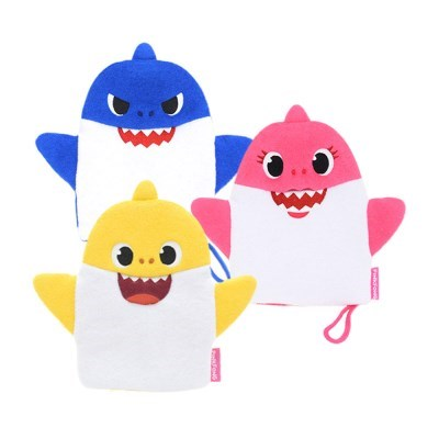 핑크퐁 상어가족 바스타올 목욕스펀지 3종세트