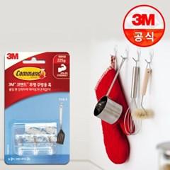 3M 코맨드 투명 주방용 훅 3개입_(2220451)