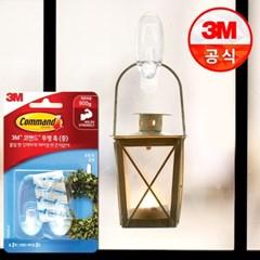 3M 코맨드 투명 훅(중) 2개입_(2220447)