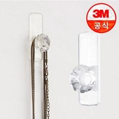 3M 코맨드 크리스탈 훅(중형) 2개입_(2220446)