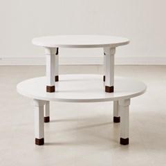 화이트 높이조절 베드트레이 접이식 테이블 사각/원형_(1898910)