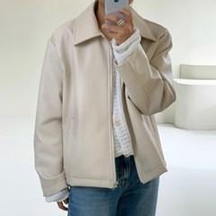 베지터블 크림 레더 자켓