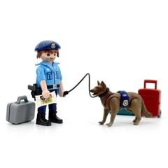 플레이모빌 이스터에그 경찰과 경찰견(70085)