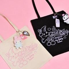 [마이멜로디 쿠로미] Rainbow Melody Tote Bag