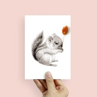 플라워포켓 다람쥐 스탠딩카드