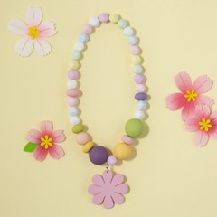 슈바독-핑크 꽃 목걸이